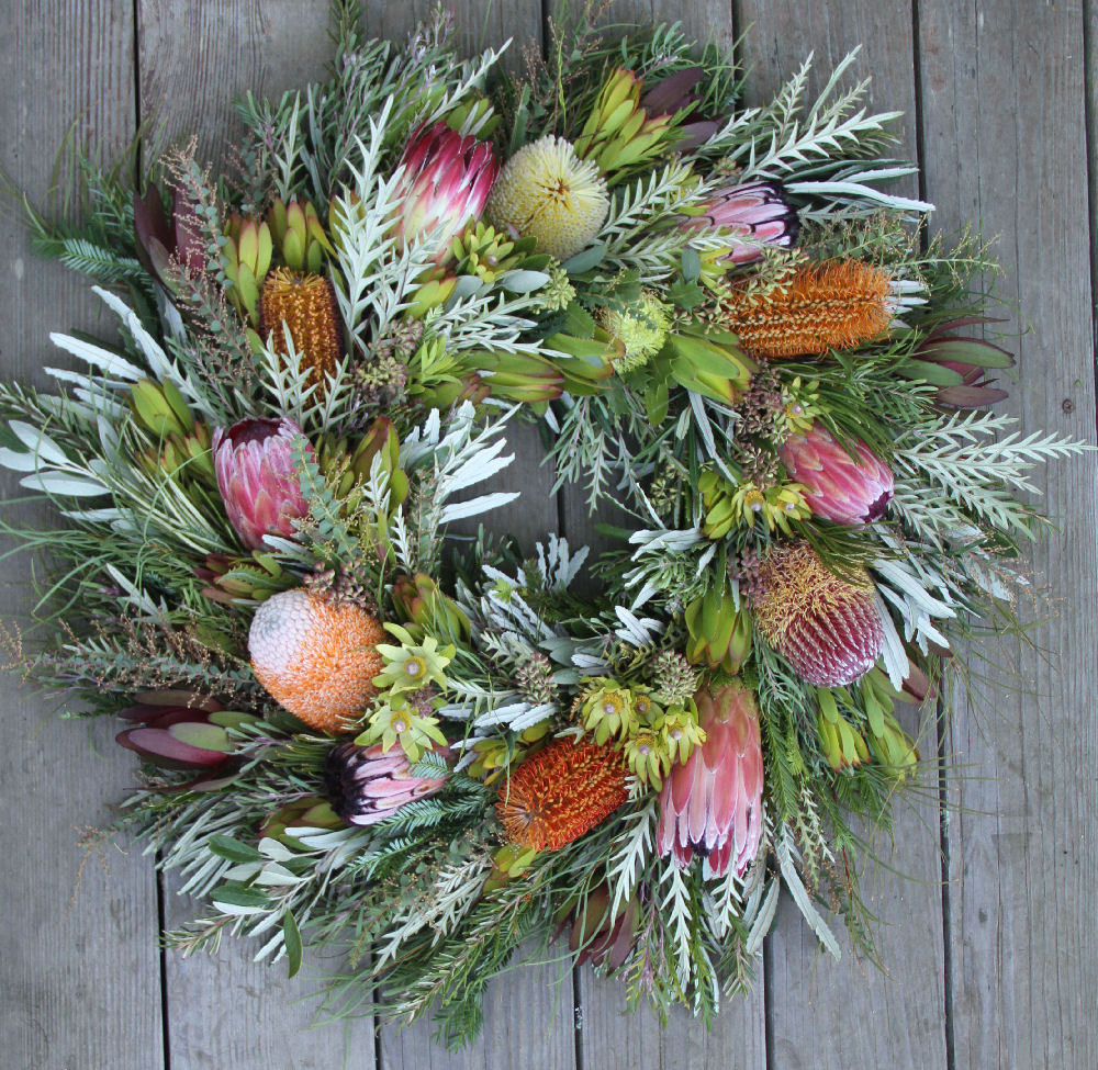 BANKSIA & PROTEA WITH MIXED FOLIAGE