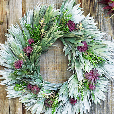 Silver Tree Wreath in Sunset Magazine collaboration with Flora Grubb